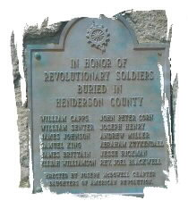 In Honor Of Revolutionary Soldiers Buried In Henderson County
